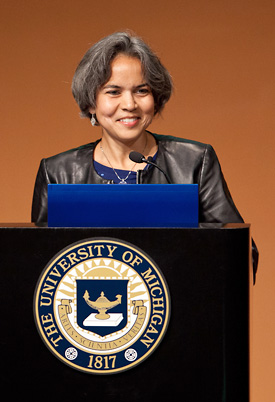 University of Michigan's  Newest Dean Wows Her Audience