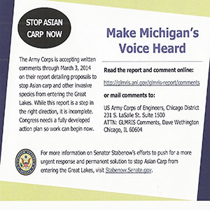 **To learn more on the fight against Asian Carp please visit: http://www.stabenow.senate.gov