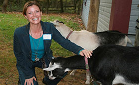Wonder, Blandford Nature Center's Goat, Steals the Show