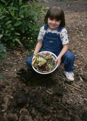 Students are never too young to start learning how to compost!