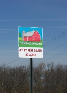 The Wege Foundation donated the signs posted on all the  preserved farms around Grand Rapids.  The design was created by The Wege Foundation's artist, Mark Heckman.