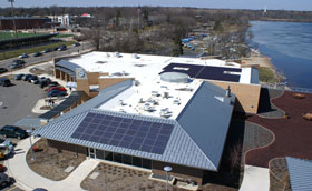 NEW SOLAR PANELS SAVE ENERGY, PROMOTE LEARNING